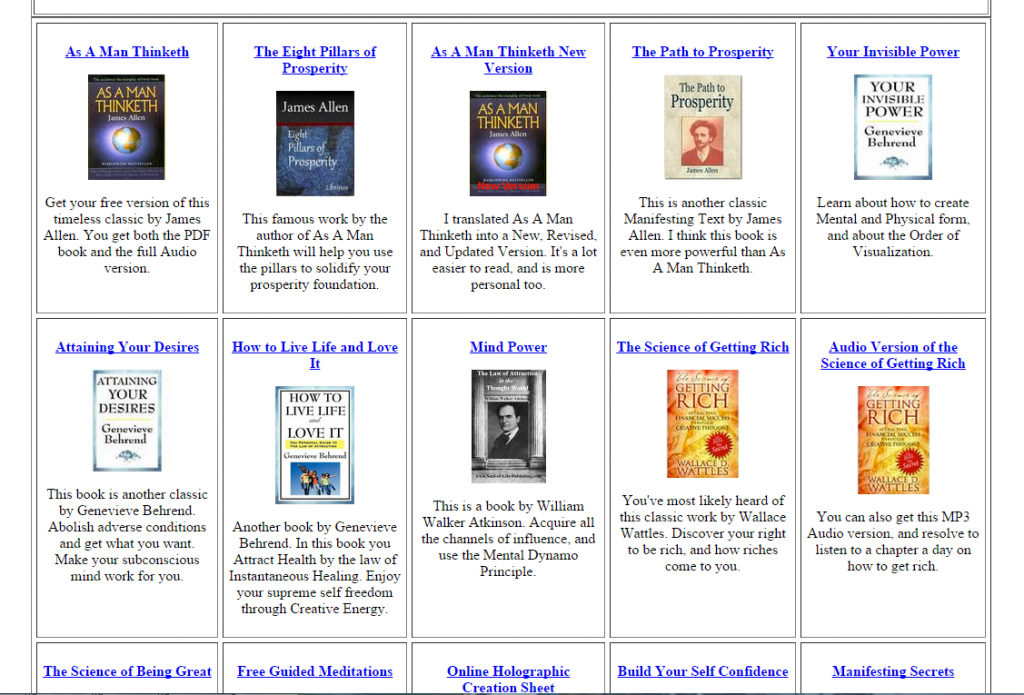 Amazing New Site Dozens Of Free Mind Power Books And Audios The